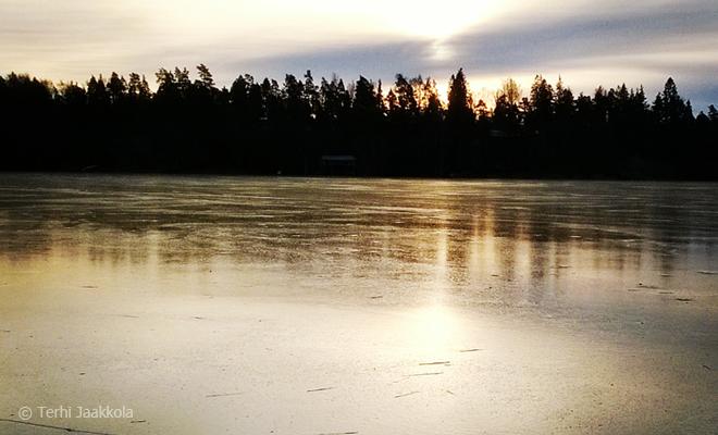 Joulukuun upea jää. Kuva: Terhi Jaakkola