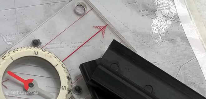 Retkiluistelu kompassi Kuva: Terhi Jaakkola