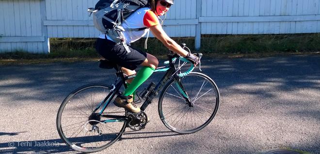Lainapyörän satulassa Kuva: Terhi Jaakkola